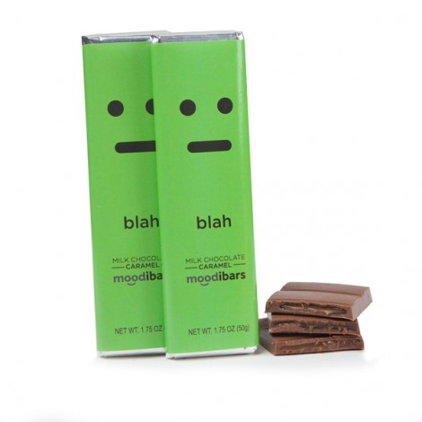 Moodibars - BLAH Caramel filled Chocolate Bar - 1.75oz