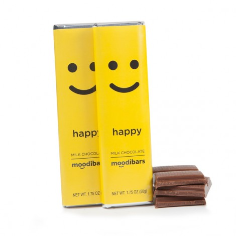 Moodibars - HAPPY Milk Chocolate Bar - 1.75oz