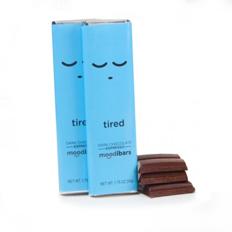 Moodibars- TIRED Dark Chocolate Espresso Bar - 1.75oz