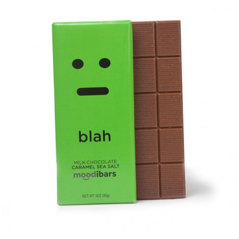 Moodibars - BLAH Milk Chocolate Caramel Sea Salt Bar - 3oz