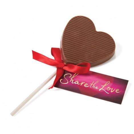 Share The Love - Chocolate Heart Lollipop