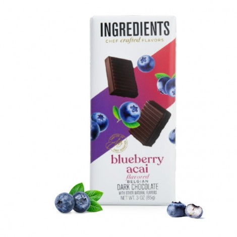 Blueberry Acai Dark Chocolate Bar (3oz)