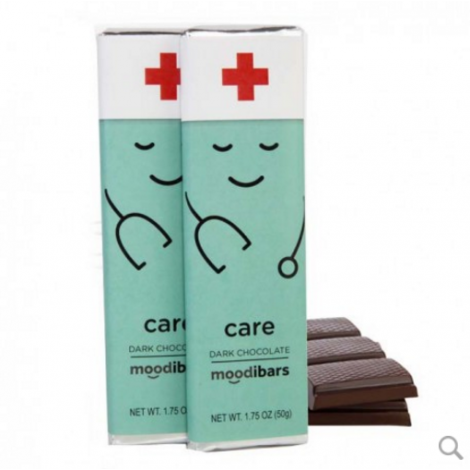 Moodibars - CARE Dark Chocolate Bar - 1.75oz