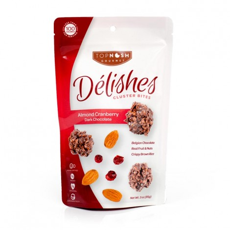Almond Cranberry Dark Chocolate Clusters - 3oz