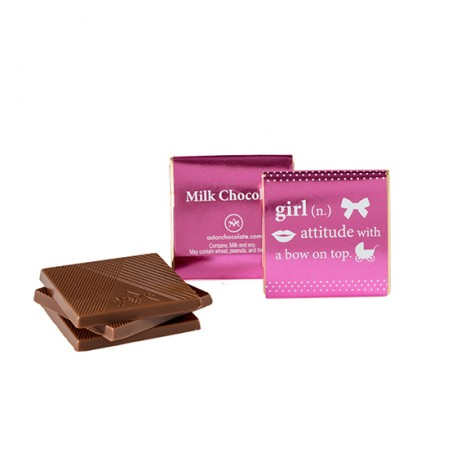 """Baby Girl Squares """"attitude with a bow on top"""""""