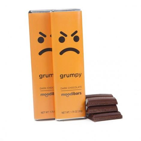 Moodibars - GRUMPY Dark Chocolate Bar - 1.75oz