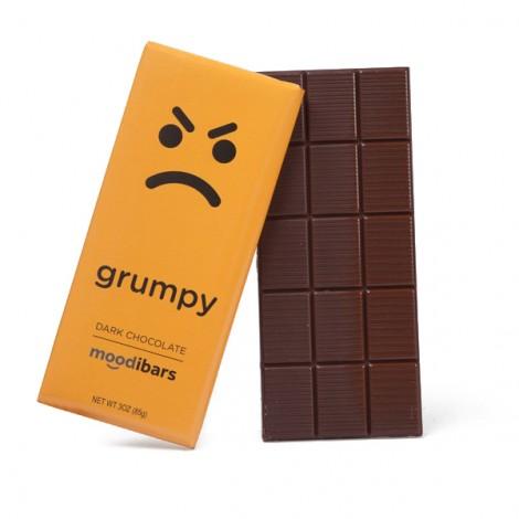 Moodibars - GRUMPY Dark Chocolate Bar - 3oz