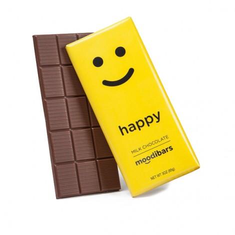 Moodibars - HAPPY Milk Chocolate Bar - 3oz