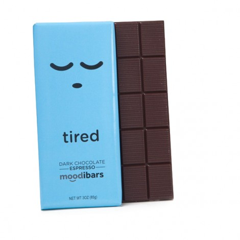 Moodibars - TIRED Dark Chocolate Espresso - 3oz