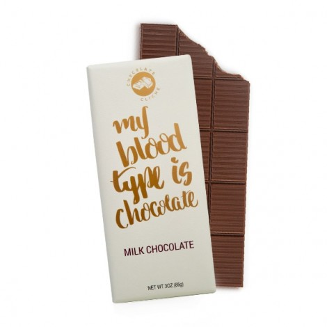 My Blood Type Is Chocolate Milk Chocolate Flavored 3oz. Bar