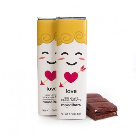 *Seasonal* Moodibars - LOVE Red Velvet Milk Chocolate Bar 1.75oz