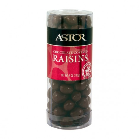 Chocolate Covered Raisins in Snack Tube