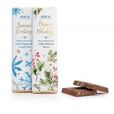 1.75oz Dark Chocolate Peppermint Crunch & Milk Chocolate Almond Bars  (MIXED case)