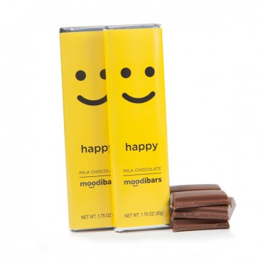 Moodibars® - HAPPY Milk Chocolate Bar - 1.75oz