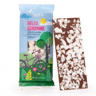 Spring Collection - Artisan Milk Chocolate Bark with Coconut Shavings (3oz)