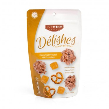 Caramel Pretzel Milk Chocolate Clusters - 3oz