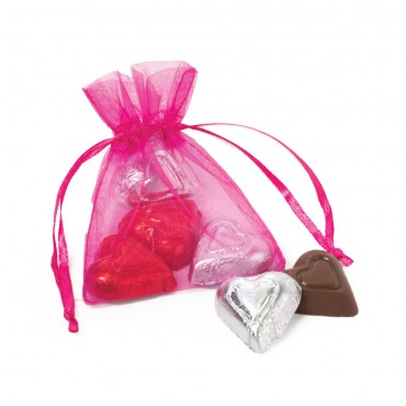 Share The Love - Chocolate Hearts in Chiffon Pouch