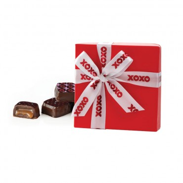 Share The Love - Red Nouveau Truffle Box (4pc)