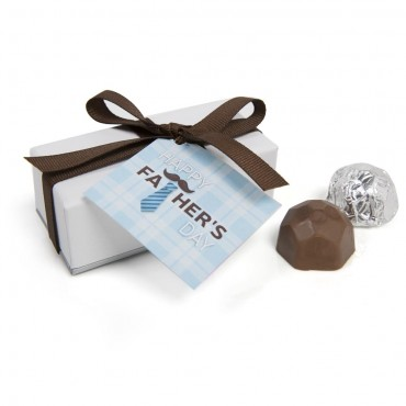 Father's Day Sterling Deco Truffle Box (2pc)