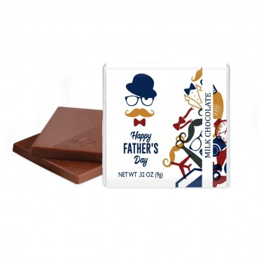 """Father's Day Deluxe Milk Chocolate Thins (1.75"""") - Junior Case"""
