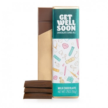 1.75oz Get Well Soon Milk Chocolate Bar