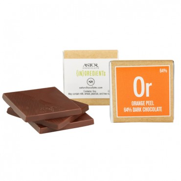 Dark Chocolate with Orange Peel (64%)