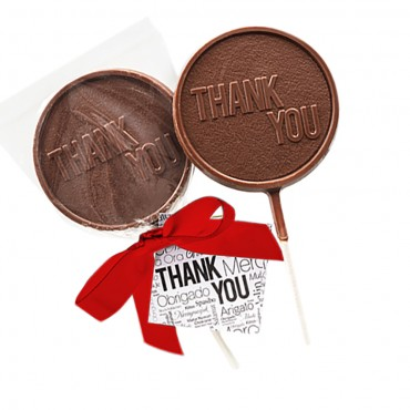 "Appreciation - Chocolate ""Thank You"" Lollipops"