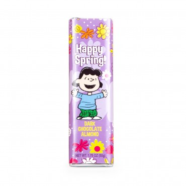 Peanuts Happy Spring Dark Almond Chocolate Bar with Lucy