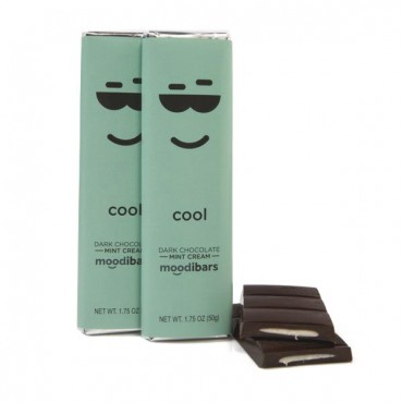 Moodibars - COOL Dark Chocolate Mint Cream Bar - 1.75oz