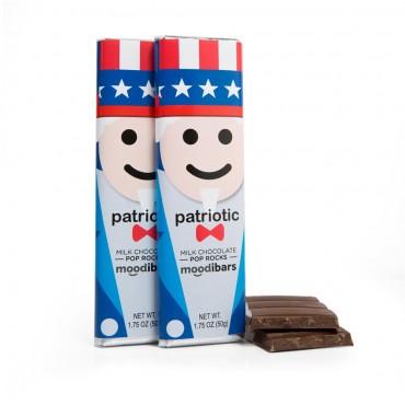 *Seasonal* Moodibars - PATRIOTIC Milk Chocolate Pop Rocks (1.75oz)