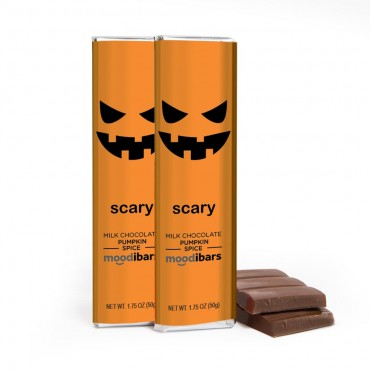 *Seasonal* Moodibars - SCARY Milk Chocolate Pumpkin Spice Chocolate Bar - 1.75oz