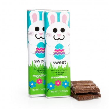*Seasonal* Moodibars - SWEET Popping Candy Milk Chocolate Bar 1.75oz