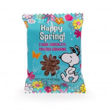 Peanuts Happy Spring Snoopy Dark Chocolate Enrobed Grahams