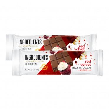 100 Calorie Red Velvet Milk Chocolate Bar