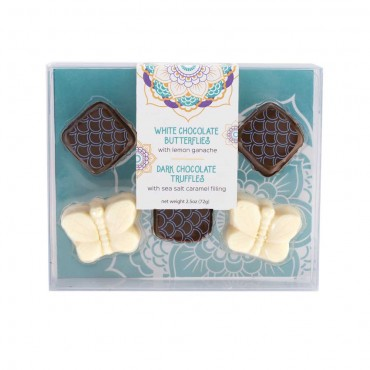 Summer Collection - 6pc Butterfly Truffle Box