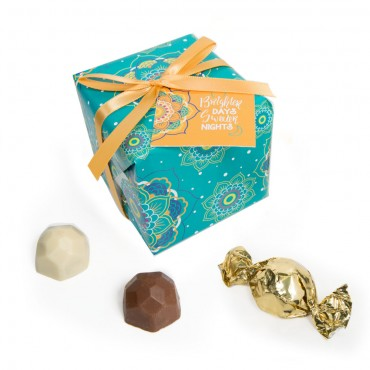 Summer Collection - Teal Gift Wrap Truffle Boxes (9pc)