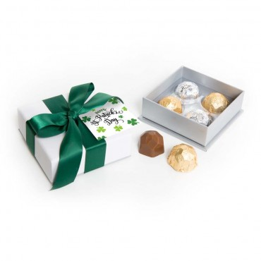 St. Patrick's Day - Sterling Deco Truffle Box (4pc)