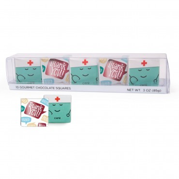 10 pc Showcase Thank You Nurse and Care Deluxe Chocolate Thins