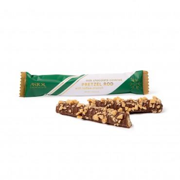 1pc Milk Chocolate Covered Pretzel Rod w/ Toffee Crunch
