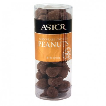 Chocolate Covered Peanuts in Snack Tube