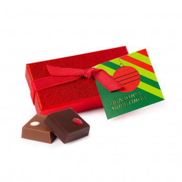 2pc Red Sparkle Truffle Gift Set