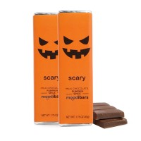 *Current Seasonal* Moodibars - SCARY Milk Chocolate Pumpkin Spice Chocolate Bar - 1.75oz