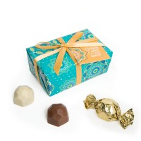 Spring Collection - Teal Gift Wrap Truffle Boxes (6pc)