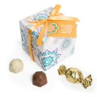 Spring Collection - White Gift Wrap Truffle Boxes (9pc)