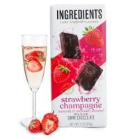 Strawberry Champagne Dark Chocolate Bar (3oz)